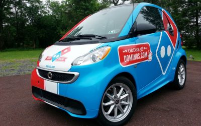 Domino's Smart Car Wrap