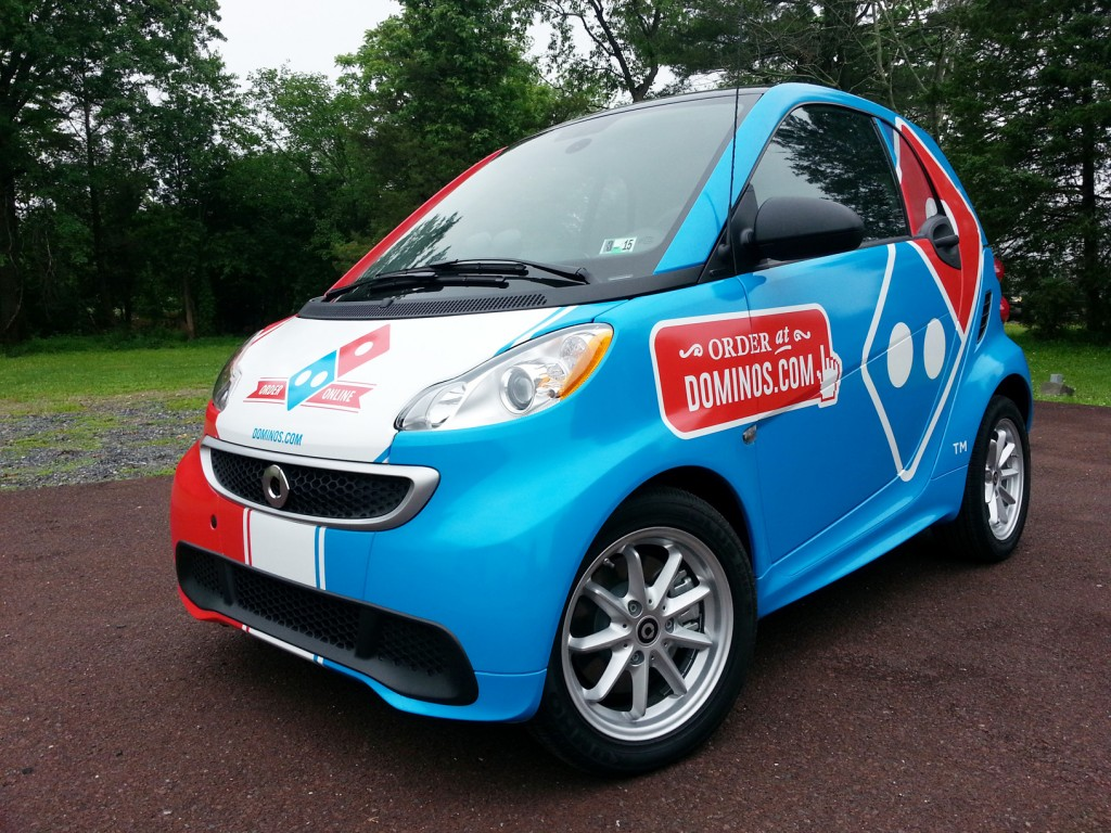 Digitally printed vinyl smart car wrap