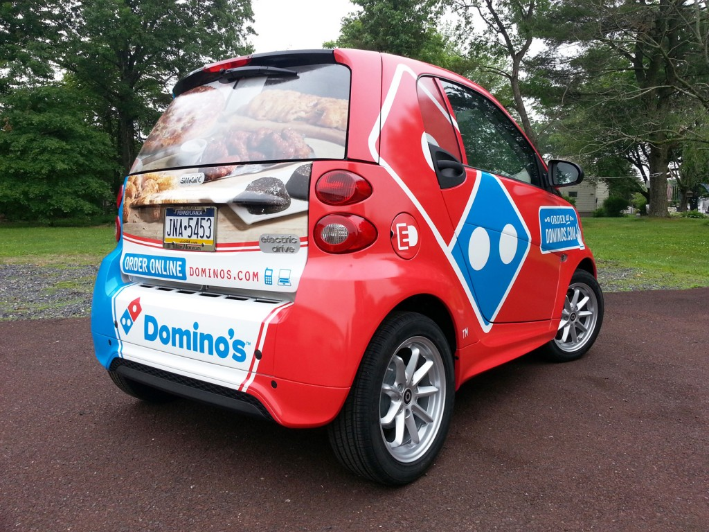 Domino S Smart Car Wrap Quakertown Pa Signs Banners