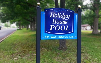 Holiday House Pool PVC Sign