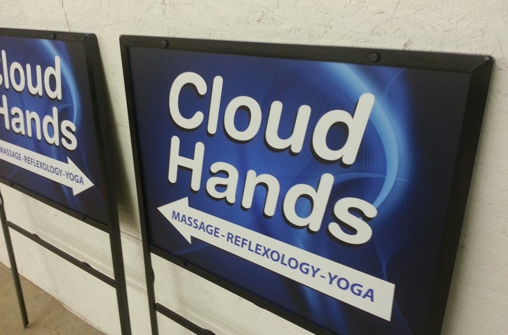 Cloud Hands Directional Signs