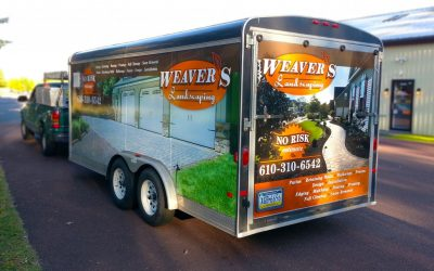 Weaver's Landscaping Trailer Wrap