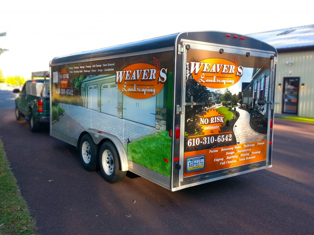 High quality vinyl trailer wrap