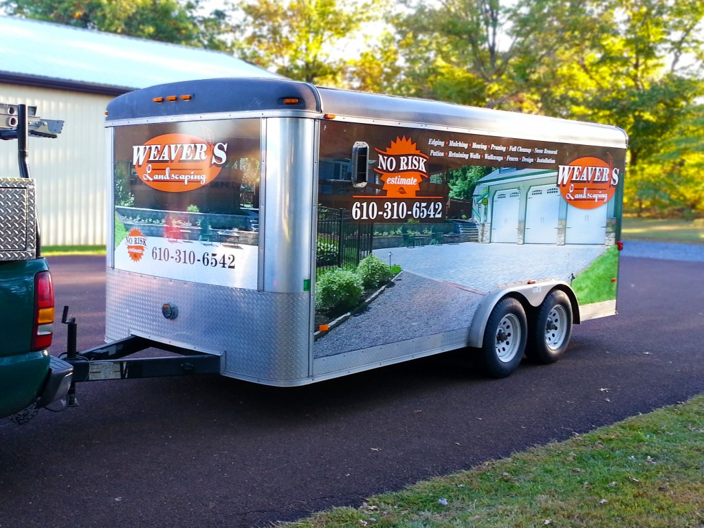 Weaver S Landscaping Trailer Wrap Quakertown Pa Signs