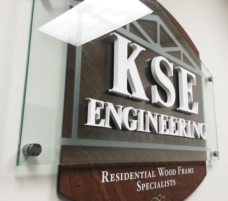 KSE Engineering Reception Logo Sign