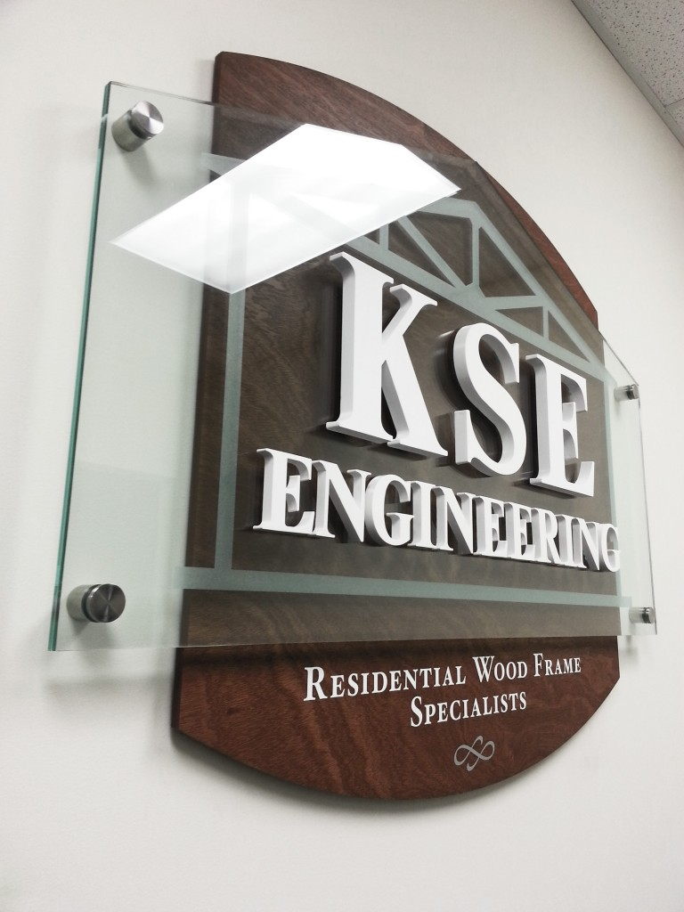 Acrylic dimensional reception logo sign