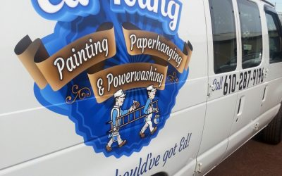 Ed Young Painting Work Van Graphics