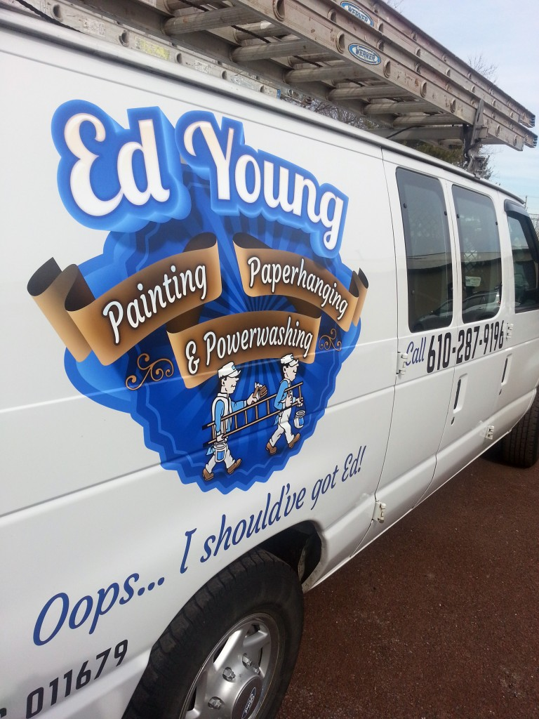 Ed Young Painting Work Van Graphics Quakertown Pa Signs