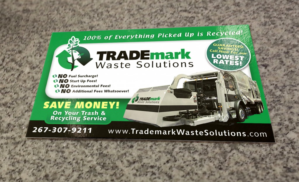 Postcard TRADEmark Waste Solutions